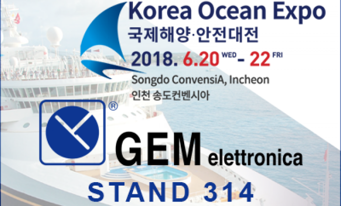 GEM elettronica exhibits at Korea Ocean Expo
