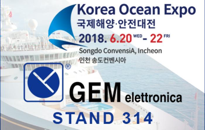 GEM elettronica exhibits at Korea Ocean Expo